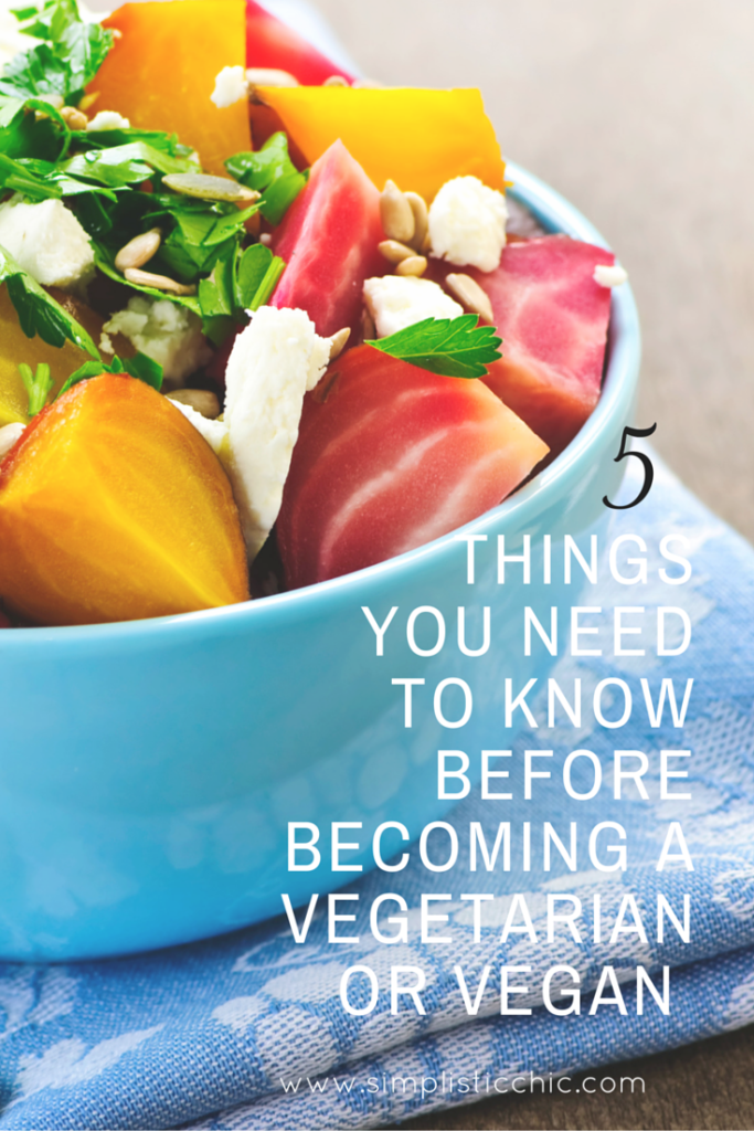 The 5 things you need to know before becoming a vegetarian or vegan